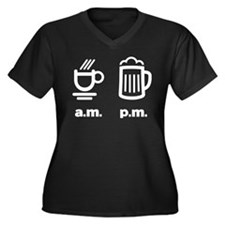 Coffee or beer Women's Plus Size V-Neck Dark T-Shi