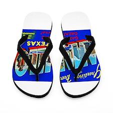 Amarillo Texas Greetings Flip Flops