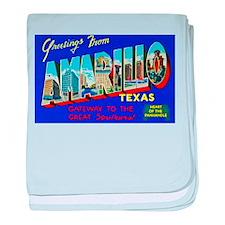 Amarillo Texas Greetings baby blanket