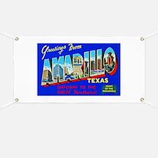 Amarillo Texas Greetings Banner
