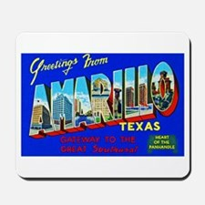 Amarillo Texas Greetings Mousepad