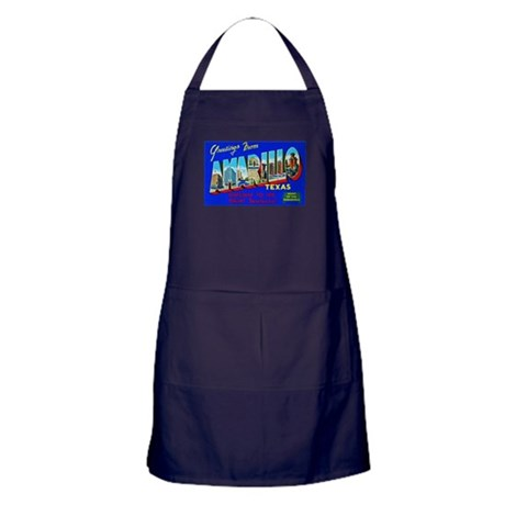 Amarillo Texas Greetings Apron (dark)