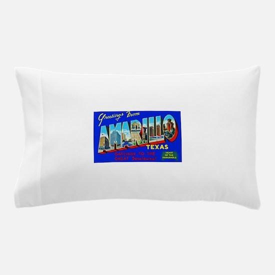 Amarillo Texas Greetings Pillow Case