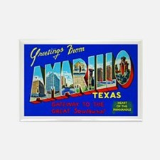 Amarillo Texas Greetings Rectangle Magnet