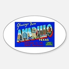 Amarillo Texas Greetings Sticker (Oval)