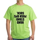 Funny weightlifting Green T-Shirt