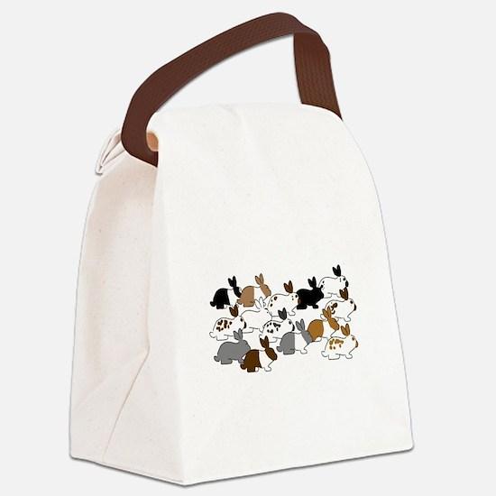 Many Bunnies Canvas Lunch Bag