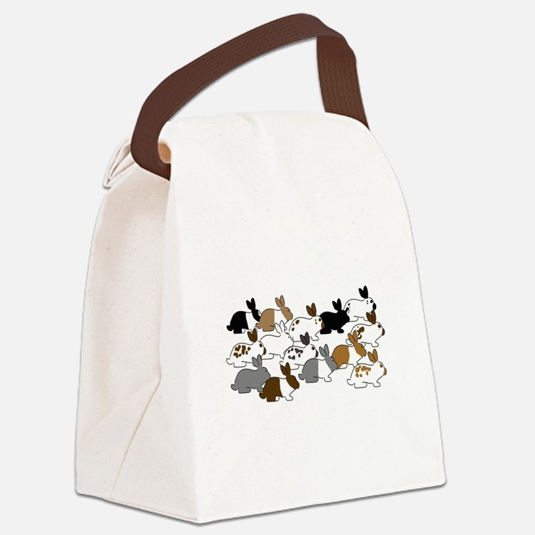 Many Bunnies Canvas Lunch Bag