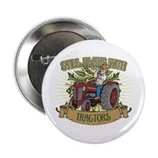 "Still Plays with Red Tractors 2.25"" Button (100 pa"
