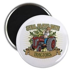 """Still Plays with Red Tractors 2.25"""" Magnet (100 pa"""