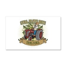 Still Plays with Red Tractors Car Magnet 20 x 12