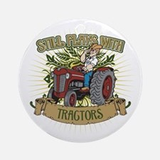 Still Plays with Red Tractors Ornament (Round)
