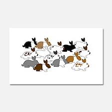 Many Bunnies Car Magnet 20 x 12