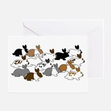 Many Bunnies Greeting Card