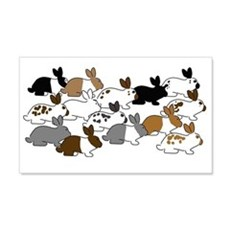 Many Bunnies Wall Sticker