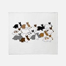 Many Bunnies Throw Blanket