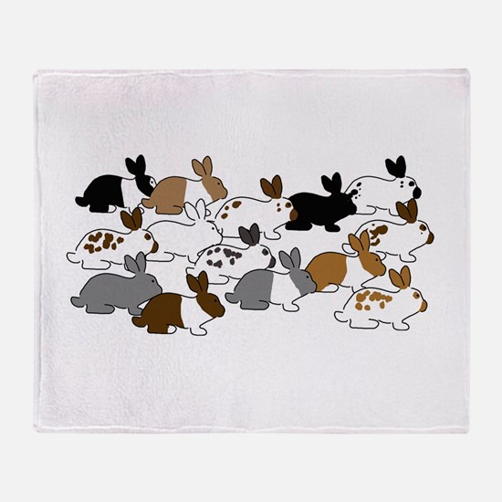 Many Bunnies Throw Blanket