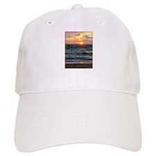 Sunset, seagull, lake, photo Baseball Cap