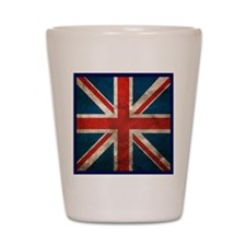 UK British English Union Jack Shot Glass