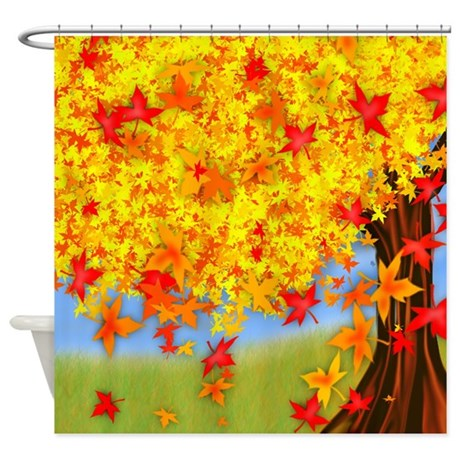 Fall Tree Shower Curtain By Magicgardendesigns