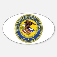 DEPARTMENT-OF-JUSTICE-SEAL Rectangle Decal