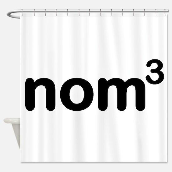Nom nom nom Shower Curtain