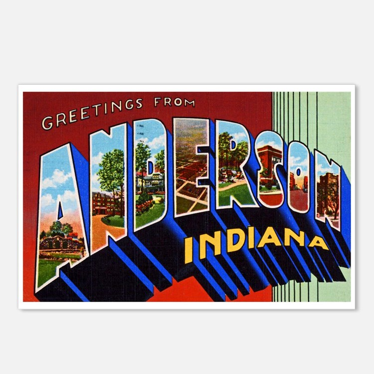 Anderson Indiana Greetings Postcards (Package of 8