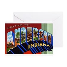 Anderson Indiana Greetings Greeting Card