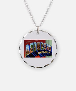 Anderson Indiana Greetings Necklace