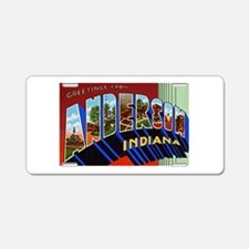 Anderson Indiana Greetings Aluminum License Plate