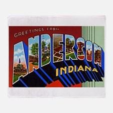 Anderson Indiana Greetings Throw Blanket