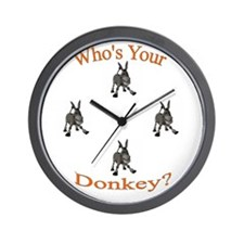 Unique Donkeys mules Wall Clock