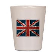 UK British English Union Jack Shot Glass