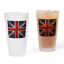 UK British English Union Jack Drinking Glass