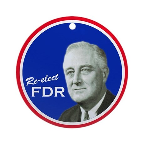 FDR - Holiday Ornament (Round)