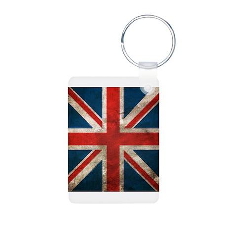 UK British English Union Jack Aluminum Photo Keych