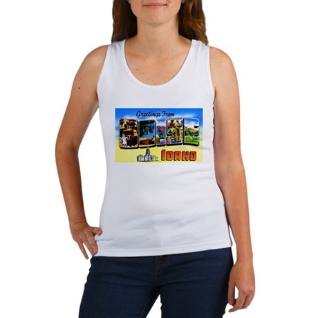 Boise Idaho Greetings Women's Tank Top