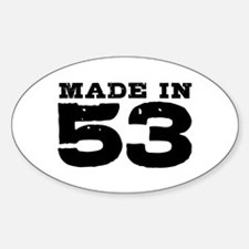 Made in 53 Sticker (Oval)