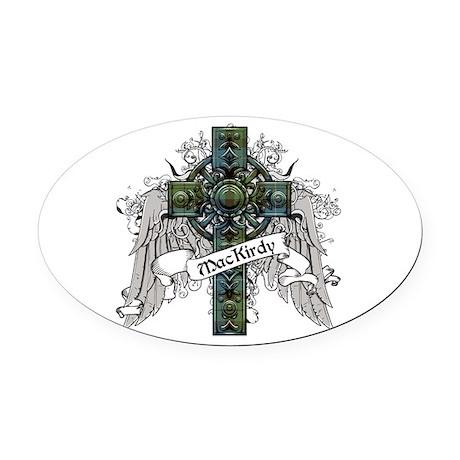 MacKirdy Tartan Cross Oval Car Magnet