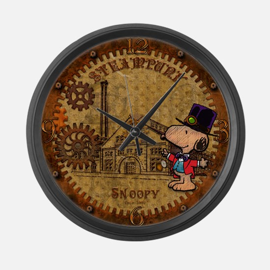 Steampunk Snoopy Large Wall Clock