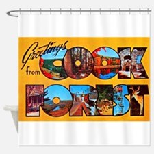 Cook Forest Greetings Shower Curtain
