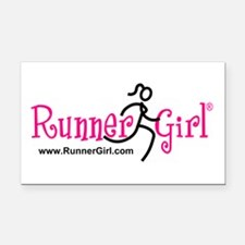 Runnergirl Rectangle Car Magnet