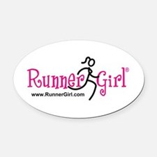 Runnergirl Oval Car Magnet