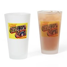 Crystal Cave Pennsylvania Greetings Drinking Glass