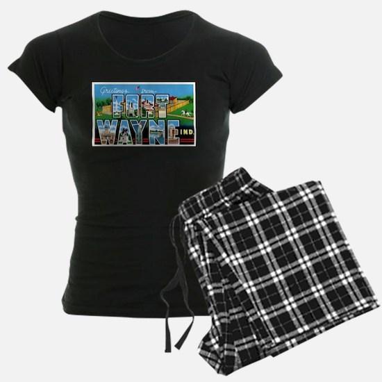 Fort Wayne Indiana Greetings Pajamas