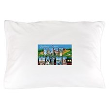 Fort Wayne Indiana Greetings Pillow Case