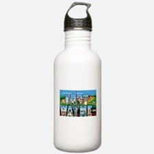 Fort Wayne Indiana Greetings Water Bottle