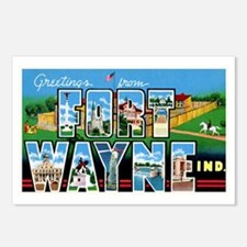 Fort Wayne Indiana Greetings Postcards (Package of