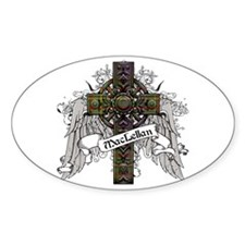 MacLellan Tartan Cross Bumper Stickers
