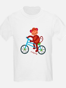 Monkey T-Shirt - Monkey Biking